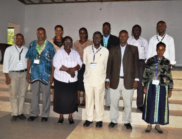Mayi with other members fo the innovation platorm for Babati.
